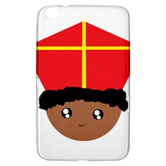 Cutieful Kids Art Funny Zwarte Piet Friend Of St  Nicholas Wearing His Miter Samsung Galaxy Tab 3 (8 ) T3100 Hardshell Case  by yoursparklingshop