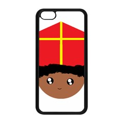 Cutieful Kids Art Funny Zwarte Piet Friend Of St  Nicholas Wearing His Miter Apple Iphone 5c Seamless Case (black) by yoursparklingshop