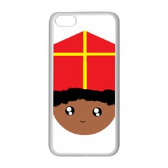 Cutieful Kids Art Funny Zwarte Piet Friend Of St  Nicholas Wearing His Miter Apple Iphone 5c Seamless Case (white) by yoursparklingshop