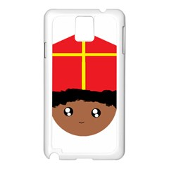 Cutieful Kids Art Funny Zwarte Piet Friend Of St  Nicholas Wearing His Miter Samsung Galaxy Note 3 N9005 Case (white) by yoursparklingshop