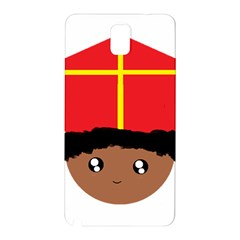 Cutieful Kids Art Funny Zwarte Piet Friend Of St  Nicholas Wearing His Miter Samsung Galaxy Note 3 N9005 Hardshell Back Case by yoursparklingshop