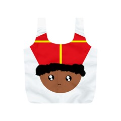 Cutieful Kids Art Funny Zwarte Piet Friend Of St  Nicholas Wearing His Miter Full Print Recycle Bags (s)  by yoursparklingshop