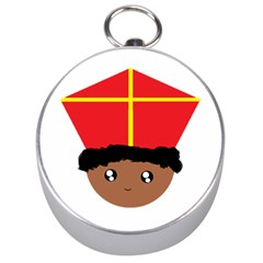 Cutieful Kids Art Funny Zwarte Piet Friend Of St  Nicholas Wearing His Miter Silver Compasses by yoursparklingshop