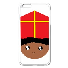 Cutieful Kids Art Funny Zwarte Piet Friend Of St  Nicholas Wearing His Miter Apple Iphone 6 Plus/6s Plus Enamel White Case by yoursparklingshop