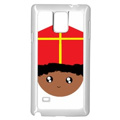 Cutieful Kids Art Funny Zwarte Piet Friend Of St  Nicholas Wearing His Miter Samsung Galaxy Note 4 Case (white) by yoursparklingshop