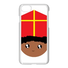 Cutieful Kids Art Funny Zwarte Piet Friend Of St  Nicholas Wearing His Miter Apple Iphone 7 Seamless Case (white) by yoursparklingshop