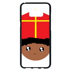 Cutieful Kids Art Funny Zwarte Piet Friend Of St  Nicholas Wearing His Miter Samsung Galaxy S8 Plus Black Seamless Case by yoursparklingshop