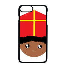 Cutieful Kids Art Funny Zwarte Piet Friend Of St  Nicholas Wearing His Miter Apple Iphone 8 Plus Seamless Case (black) by yoursparklingshop