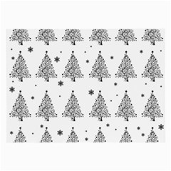 Christmas Tree   Pattern Large Glasses Cloth (2 Side)