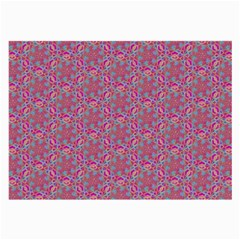 Whirligig Pattern Hand Drawing Pink 01 Large Glasses Cloth (2-side) by Cveti
