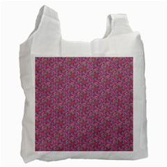 Whirligig Pattern Hand Drawing Pink 01 Recycle Bag (one Side) by Cveti