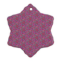 Whirligig Pattern Hand Drawing Pink 01 Ornament (snowflake) by Cveti