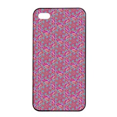 Whirligig Pattern Hand Drawing Pink 01 Apple Iphone 4/4s Seamless Case (black) by Cveti