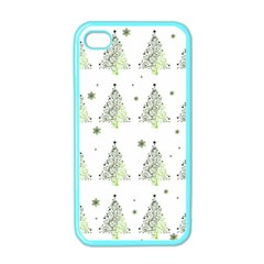 Christmas Tree   Pattern Apple Iphone 4 Case (color)