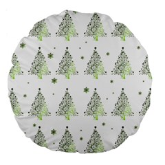 Christmas Tree   Pattern Large 18  Premium Round Cushions by Valentinaart