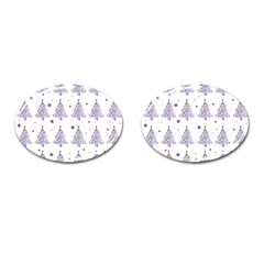 Christmas Tree   Pattern Cufflinks (oval) by Valentinaart