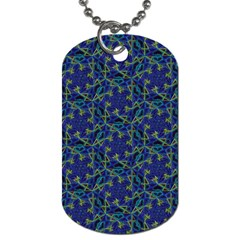 Whirligig Hand Drawing Geometric Pattern Blue Dog Tag (two Sides) by Cveti