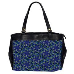 Whirligig Hand Drawing Geometric Pattern Blue Office Handbags (2 Sides)  by Cveti
