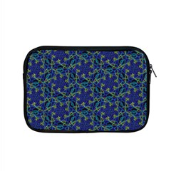 Whirligig Hand Drawing Geometric Pattern Blue Apple Macbook Pro 15  Zipper Case by Cveti