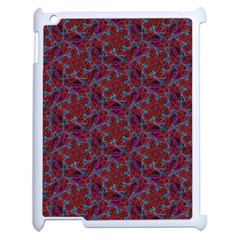 Whirligig Pattern Hand Drawing Red Apple Ipad 2 Case (white) by Cveti