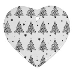 Christmas Tree   Pattern Heart Ornament (two Sides) by Valentinaart