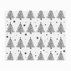 Christmas Tree   Pattern Small Glasses Cloth (2 Side) by Valentinaart