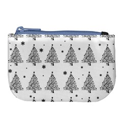 Christmas Tree   Pattern Large Coin Purse by Valentinaart