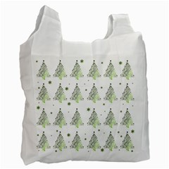 Christmas Tree   Pattern Recycle Bag (two Side)