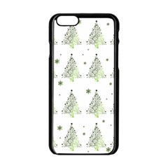 Christmas Tree   Pattern Apple Iphone 6/6s Black Enamel Case by Valentinaart