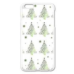 Christmas Tree   Pattern Apple Iphone 6 Plus/6s Plus Enamel White Case