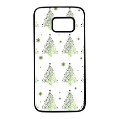 Christmas Tree   Pattern Samsung Galaxy S7 Black Seamless Case by Valentinaart