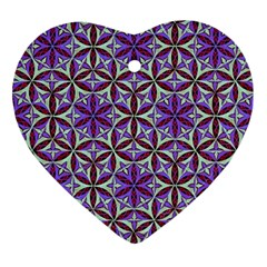 Flower Of Life Hand Drawing Pattern Ornament (heart) by Cveti