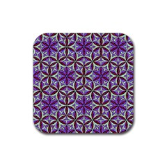 Flower Of Life Hand Drawing Pattern Rubber Coaster (square)  by Cveti