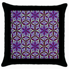 Flower Of Life Hand Drawing Pattern Throw Pillow Case (black) by Cveti