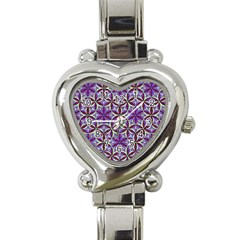 Flower Of Life Hand Drawing Pattern Heart Italian Charm Watch by Cveti