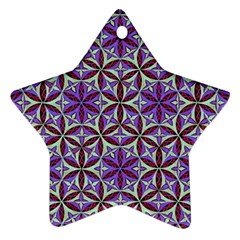 Flower Of Life Hand Drawing Pattern Star Ornament (two Sides) by Cveti
