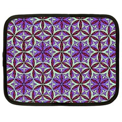 Flower Of Life Hand Drawing Pattern Netbook Case (large) by Cveti