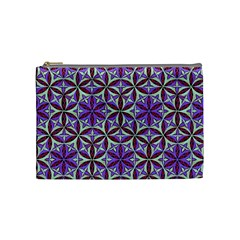 Flower Of Life Hand Drawing Pattern Cosmetic Bag (medium)  by Cveti