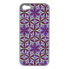 Flower Of Life Hand Drawing Pattern Apple Iphone 5 Case (silver) by Cveti