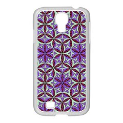 Flower Of Life Hand Drawing Pattern Samsung Galaxy S4 I9500/ I9505 Case (white) by Cveti