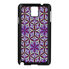 Flower Of Life Hand Drawing Pattern Samsung Galaxy Note 3 N9005 Case (black) by Cveti