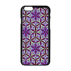 Flower Of Life Hand Drawing Pattern Apple Iphone 6/6s Black Enamel Case by Cveti