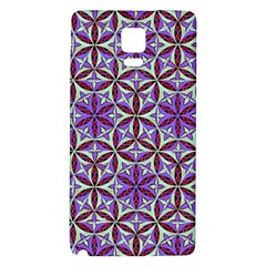 Flower Of Life Hand Drawing Pattern Galaxy Note 4 Back Case by Cveti