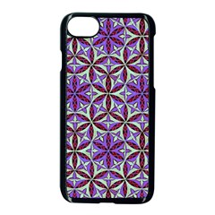 Flower Of Life Hand Drawing Pattern Apple Iphone 8 Seamless Case (black)