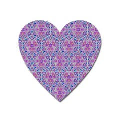 Star Tetrahedron Hand Drawing Pattern Purple Heart Magnet