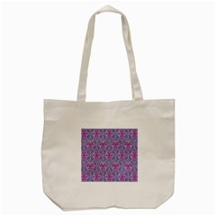Star Tetrahedron Hand Drawing Pattern Purple Tote Bag (cream) by Cveti