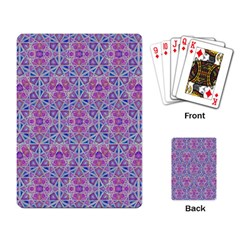 Star Tetrahedron Hand Drawing Pattern Purple Playing Card by Cveti