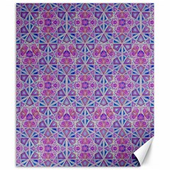 Star Tetrahedron Hand Drawing Pattern Purple Canvas 8  X 10  by Cveti
