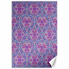 Star Tetrahedron Hand Drawing Pattern Purple Canvas 12  X 18   by Cveti