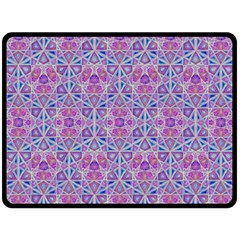 Star Tetrahedron Hand Drawing Pattern Purple Double Sided Fleece Blanket (large)  by Cveti
